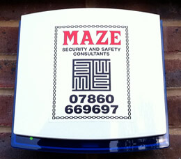 Maze Security burglar alarm